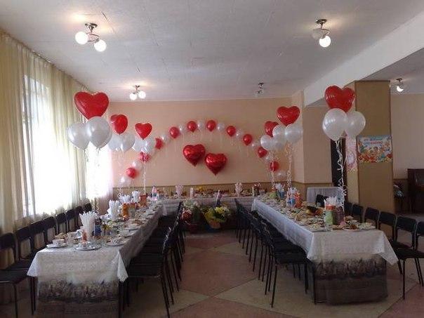 Украшения зала на свадьбу шарами своими руками фото
